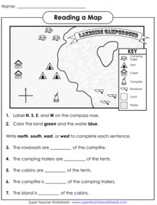 Printables Map Skills Worksheets 2nd Grade grade map skills worksheets davezan first davezan