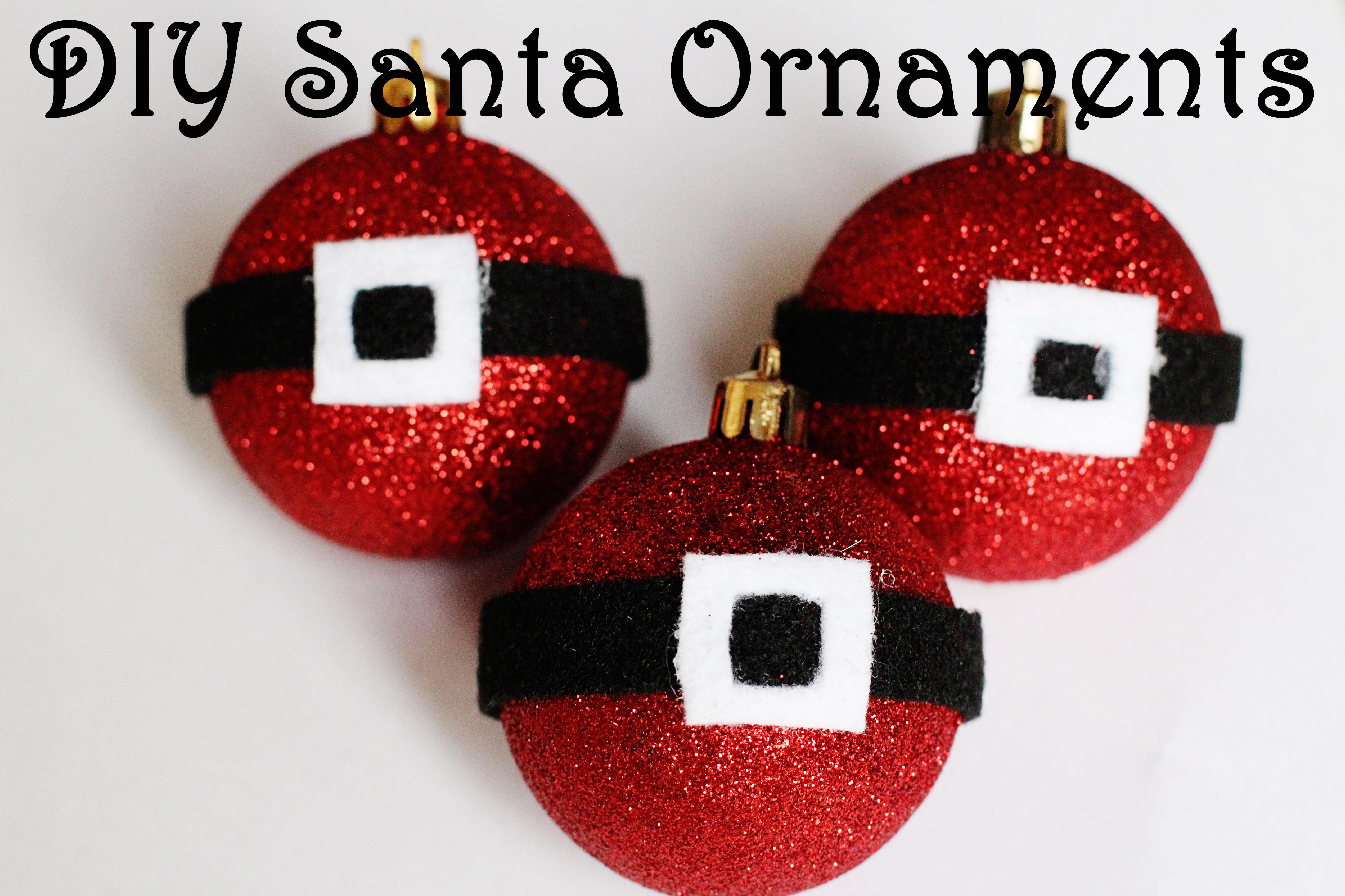 Diy santa christmas ball ornament tutorial